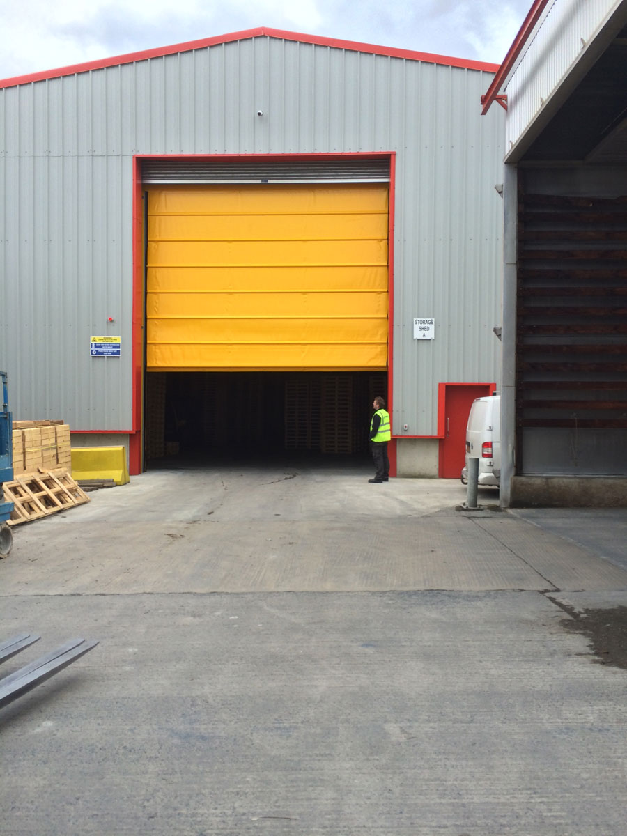 No Opening Too Small Recent High Speed Door Installation