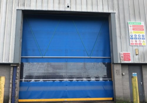 Lisnahally Docks Grain Store High Speed Door Installation